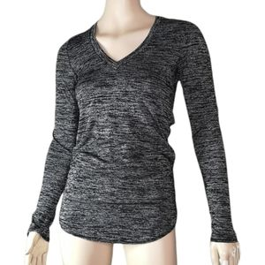Wilfred Free Space Dye V-neck Sexy Open Back Long Sleeve Sweater